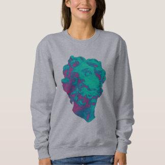Sweatshirt esthétique de femmes de statue de
