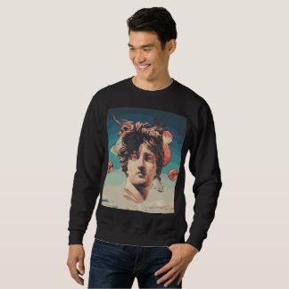 Sweatshirt esthétique d'hommes de statue de