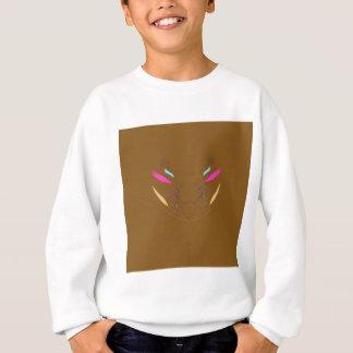 Sweatshirt Ethno brun d'éléments de conception