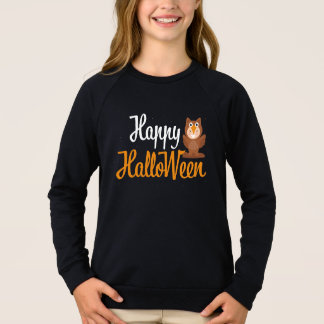 Sweatshirt Étincelle brune mignonne de Halloween d'aile