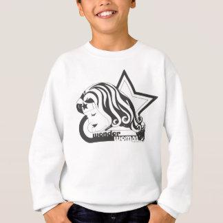 Sweatshirt Étoile de la femme de merveille B&W