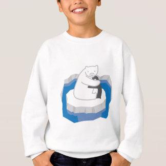 Sweatshirt Étreinte d'ours blanc