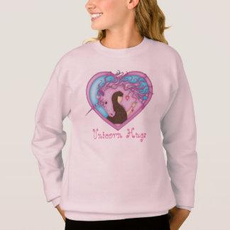 Sweatshirt Étreintes de licorne - rose