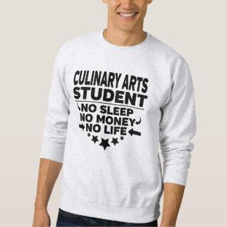 Sweatshirt Étudiant universitaire d'arts culinaires l'aucune