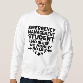 Sweatshirt Étudiant universitaire de gestion de secours aucun