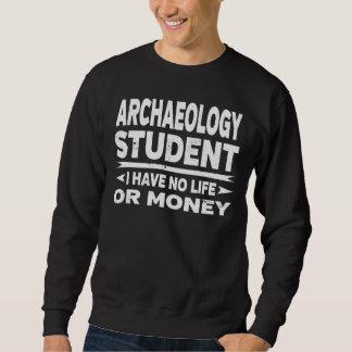 Sweatshirt Étudiant universitaire drôle d'archéologie