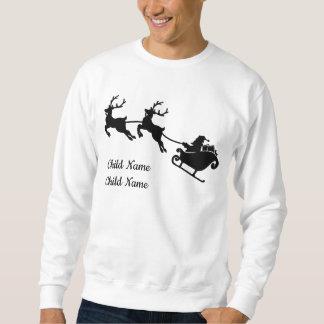 Sweatshirt fait sur commande de Noël de renne de