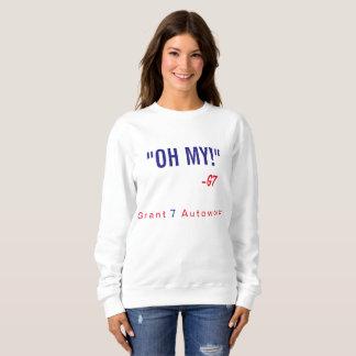 """Sweatshirt Femmes """"oh mes !"""" Texte rouge et bleu de"""