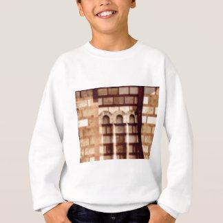 Sweatshirt fenêtre brune de bloc