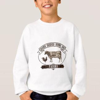 Sweatshirt Fermes de vache à Brown de poulet de Brown