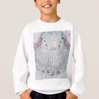 Sweatshirt Feuille de coton sous le microscope