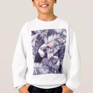 Sweatshirt Feuille tropical de banane de toucan violet