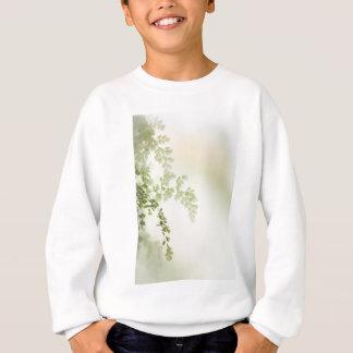 Sweatshirt feuille vert de ressort