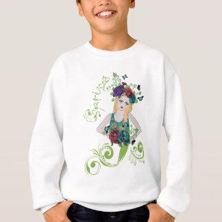 Sweatshirt Fille de ressort avec des fleurs