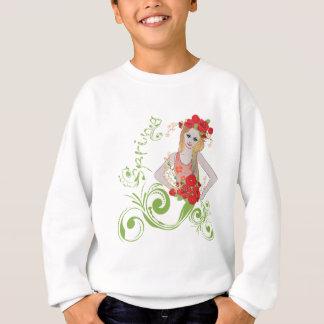 Sweatshirt Fille de ressort avec Flowers2