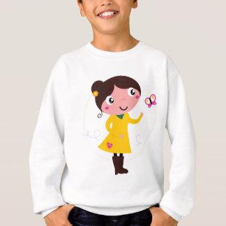 Sweatshirt Fille merveilleuse de ressort avec le papillon
