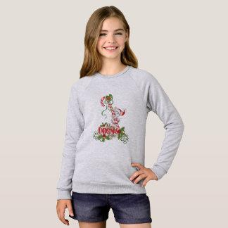 Sweatshirt Filles mignonnes américaines de Joyeux Noël