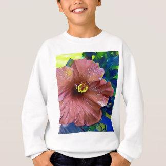 Sweatshirt Fleur artistique de ketmie de rose poussiéreux