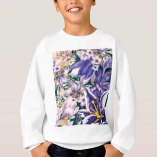 Sweatshirt fleurit l'art bleu