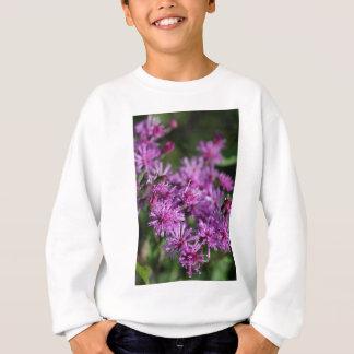 Sweatshirt Fleurs sauvages géants pourpres d'herbe de