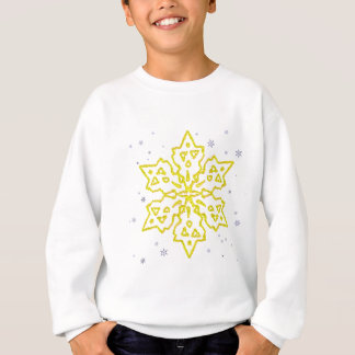 Sweatshirt Flocon de neige d'or