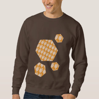 Sweatshirt foncé de chocolat avec la conception