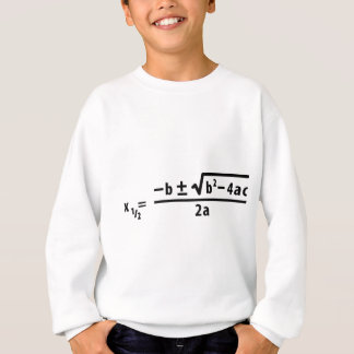 Sweatshirt formule quadratique