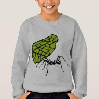 Sweatshirt Fourmi de coupe de feuille nature Stencil