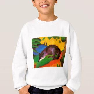 Sweatshirt Fox noir bleu de Franz Marc