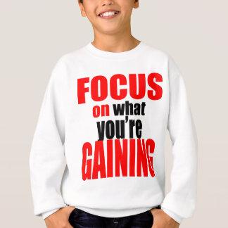 Sweatshirt foyer gagnant la motivation optimiste de vue