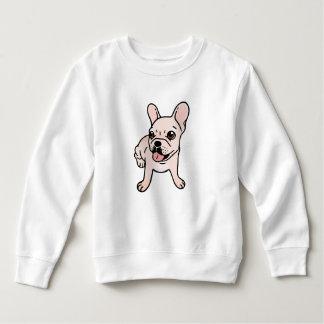 Sweatshirt Frenchie crème mignon est prêt à jouer