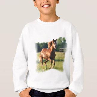 Sweatshirt galopant de cheval de châtaigne