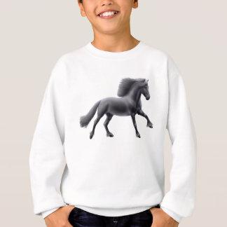 Sweatshirt galopant d'enfants de cheval frison