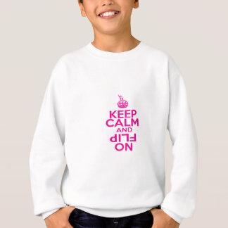 Sweatshirt Gardez la conception calme de gymnastique
