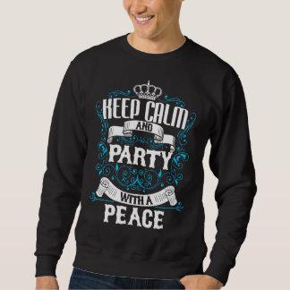 Sweatshirt Gardez le calme et la partie avec un anniversaire