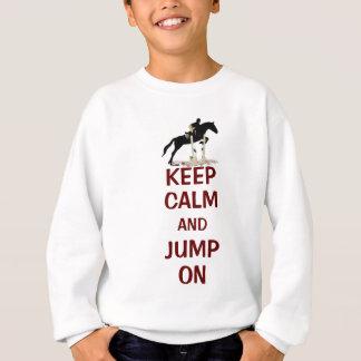 Sweatshirt Gardez le calme et sautez sur le cheval