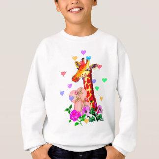 Sweatshirt Girafe de Saint-Valentin