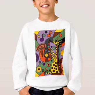 Sweatshirt Girafe drôle jouant l'art d'original de saxophone