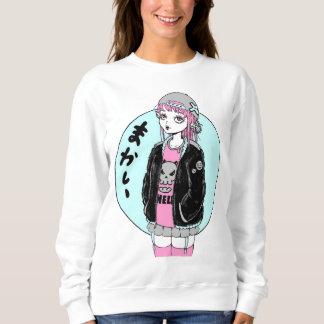Sweatshirt girl fashion rock manga