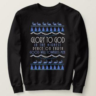 Sweatshirt Gloire à Dieu dans Noël le plus élevé
