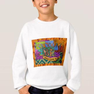 Sweatshirt Grand collage terreux rêveur