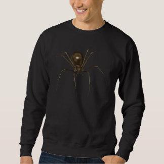 Sweatshirt Grande araignée d'image tramée de Brown 3D