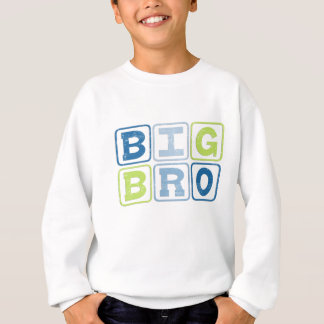 Sweatshirt GRANDS BRO - Lettrage de bloc de frère