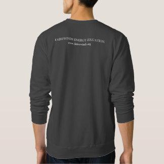 Sweatshirt gris-foncé de symbole du rayonnement