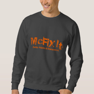 Sweatshirt gris-foncé d'encolure ras du cou