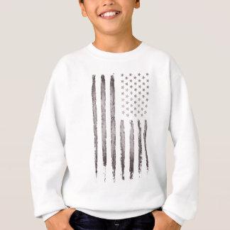 Sweatshirt Gris vintage de drapeau américain