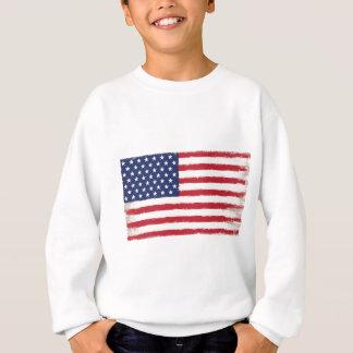 Sweatshirt Grunge patriotique de drapeau américain vieille