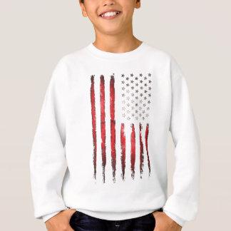 Sweatshirt Grunge ROUGE vintage de drapeau américain