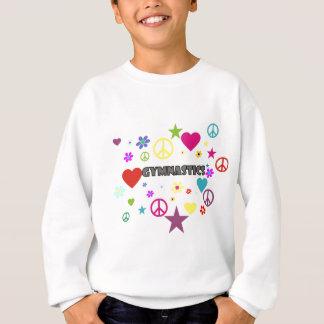 Sweatshirt Gymnastique avec les graphiques mélangés