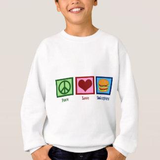 Sweatshirt Hamburgers d'amour de paix